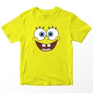 Kaos Spongebob Squarepants, Warna Kuning Umur 1-10 Tahun by DistroJakarta.com