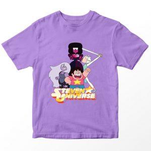 Kaos Steven Universe Bintang, Warna Merah Umur 1-10 Tahun by DistroJakarta.com