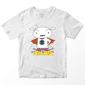 Kaos Super Shiro, Warna Putih Umur 1-10 Tahun by DistroJakarta.com