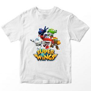 Kaos Super Wings Crew, Putih Umur 1-10 Tahun by DistroJakarta.com