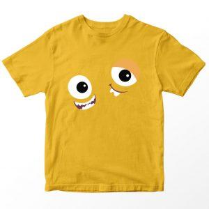 Kaos Monster University Terri Terry Perry, Kuning Mustard 1-10 Tahun by DistroJakarta.com