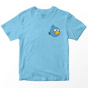 Kaos Angry Birds Biru muda, The Blues Pocket Logo Umur 1-10 Tahun by DistroJakarta.com