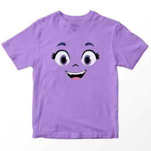 Kaos Vampirina Face, Warna Lilac Ungu Muda Umur 1-10 Tahun by DistroJakarta.com