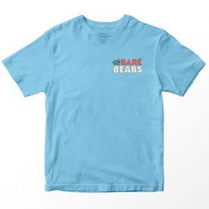 Kaos We Bare Bears Logo Pocket, Warna Biru muda Umur 1-10 Tahun by DistroJakarta.com