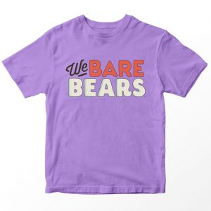 Kaos We Bare Bears Logo, Warna Lilac Ungu Umur 1-10 Tahun by DistroJakarta.com