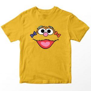Kaos Sesame Street Zoe , Warna Kuning Mustard Umur 1-10 Tahun by DistroJakarta.com