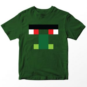 Kaos Minecraft Zombie Villager, Hijau Army Umur 1-10 Tahun by DistroJakarta.com