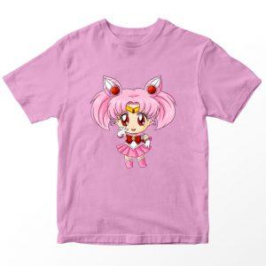 Kaos Sailormoon Chibi Sailor Chibi Moon Anak, Warna Pink Umur 1-10 Tahun by DistroJakarta.com
