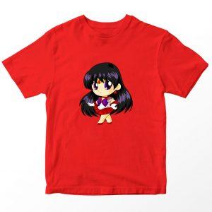 Kaos Sailormoon Chibi Sailor Mars Anak, Warna Merah Umur 1-10 Tahun by DistroJakarta.com