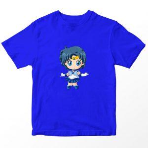 Kaos Sailormoon Chibi Sailor Mercury Anak, Warna Biru Umur 1-10 Tahun by DistroJakarta.com