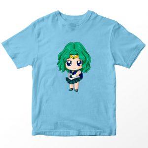 Kaos Sailormoon Chibi Sailor Neptune Anak, Warna Biru Muda Umur 1-10 Tahun by DistroJakarta.com