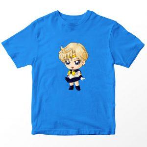 Kaos Sailormoon Chibi Sailor Uranus Anak, Warna Turkis Tua Biru Umur 1-10 Tahun by DistroJakarta.com