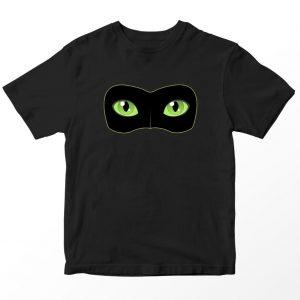 Kaos Miraculous Cat Noir Mask Anak, Warna Hitam Umur 1-10 Tahun by DistroJakarta.com