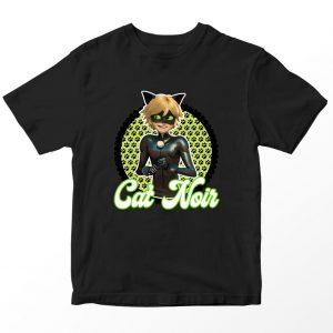 Kaos Miraculous Cat Noir Anak, Warna Hitam Umur 1-10 Tahun by DistroJakarta.com