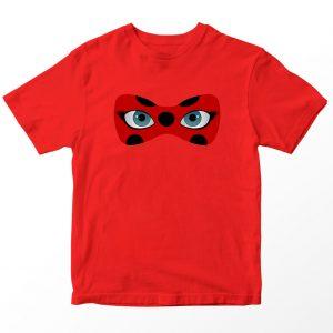 Kaos Miraculous Ladybug Mask Anak, Warna Merah Umur 1-10 Tahun by DistroJakarta.com