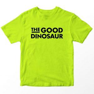 Kaos The Good Dinosaur Logo Anak, Warna Hijau Neon Umur 1-10 Tahun by DistroJakarta.com