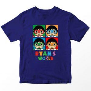 Kaos Ryan's World Ryan World Character Anak, Warna Hitam Umur 1-10 Tahun by DistroJakarta.com